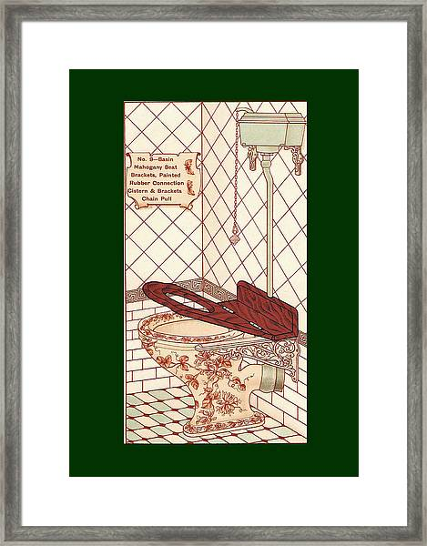 Framed Print featuring the mixed media Bathroom Picture Seven by Eric Kempson