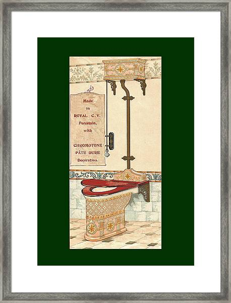 Framed Print featuring the mixed media Bathroom Picture Six by Eric Kempson