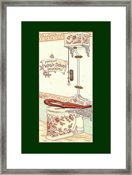Framed Print featuring the mixed media Bathroom Picture Three by Eric Kempson