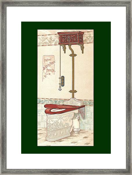 Framed Print featuring the mixed media Bathroom Picture Two by Eric Kempson