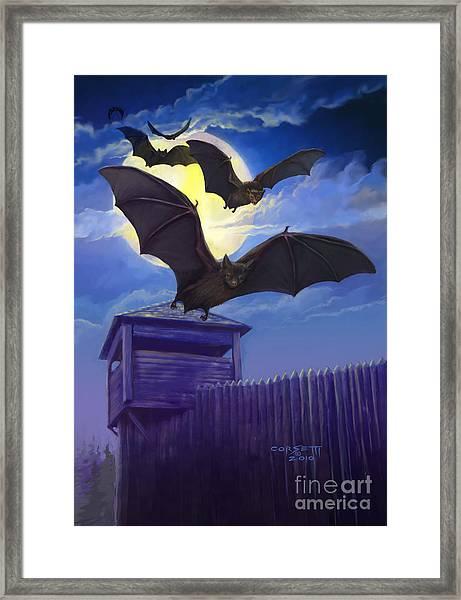 Batsfly Framed Print