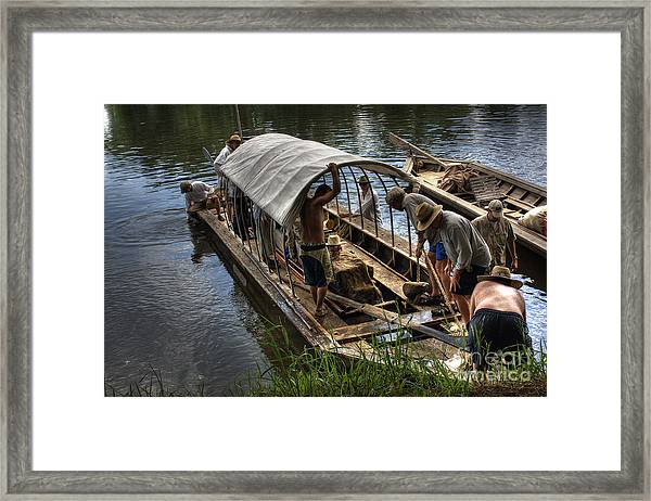 Batteau On The James River 2 Framed Print