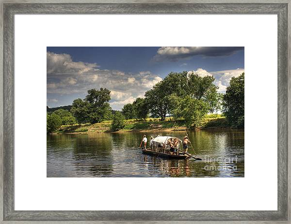 Batteau On The James River Framed Print