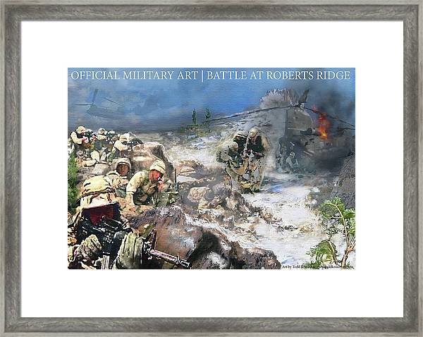 Battle At Roberts Ridge Framed Print