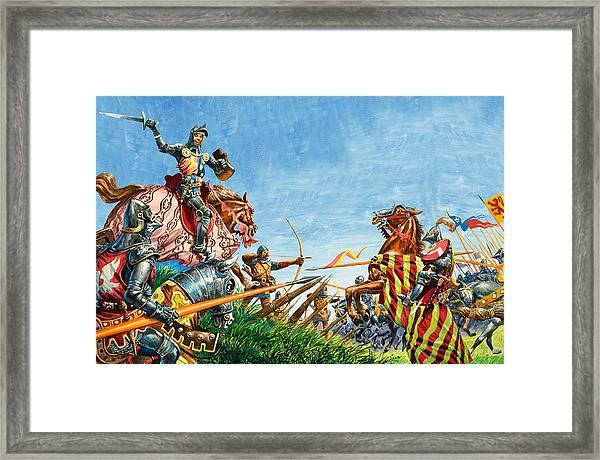 Battle Of Agincourt Framed Print