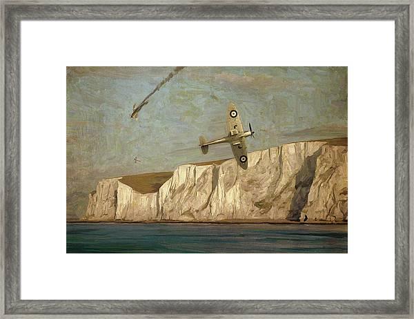 Battle Of Britain Over Dover Framed Print