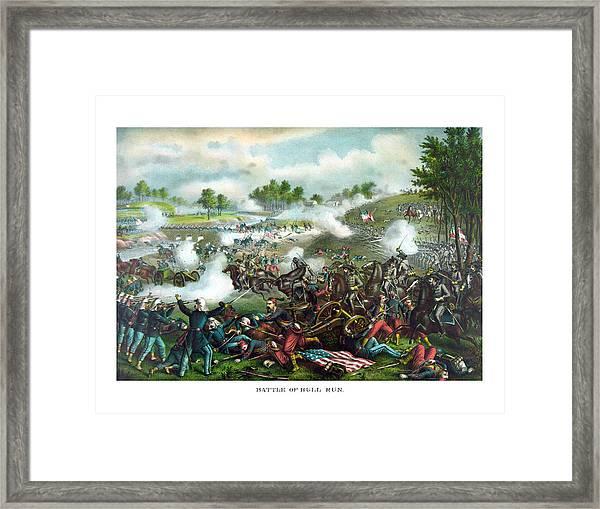Battle Of Bull Run Framed Print