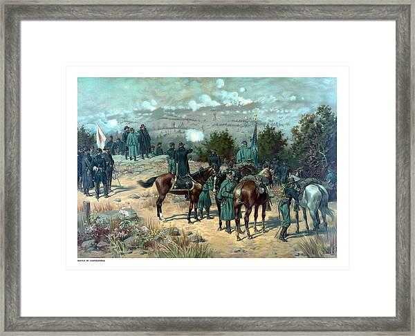 Battle Of Chattanooga Framed Print
