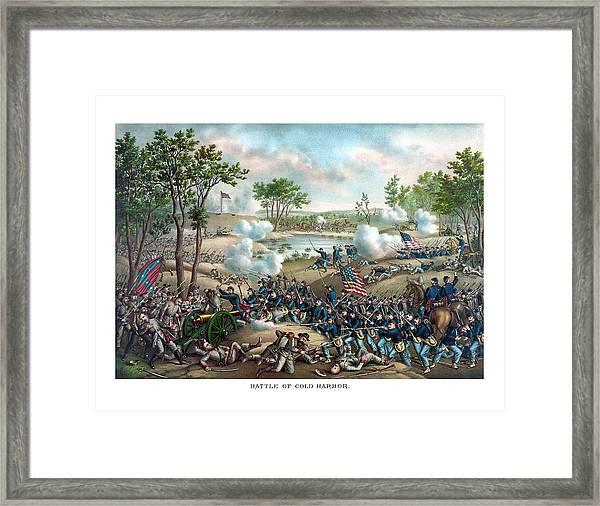 Battle Of Cold Harbor Framed Print