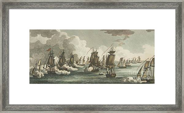 Battle Of Erie Framed Print