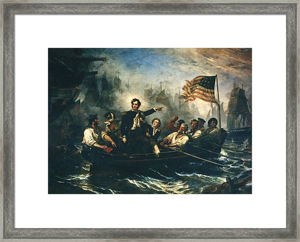 Battle Of Lake Erie Framed Print