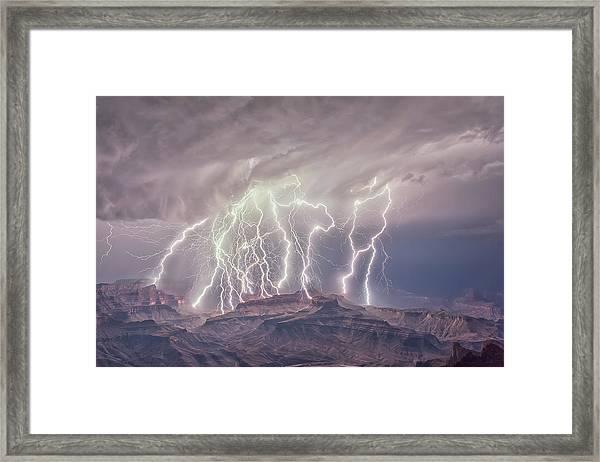 Battle Of The Gods Framed Print