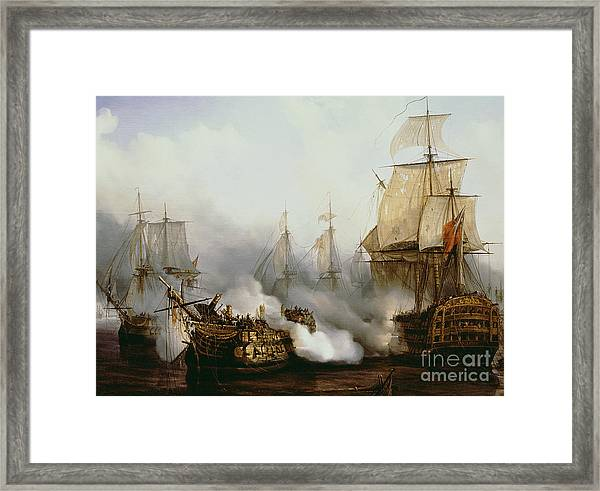 Battle Of Trafalgar Framed Print