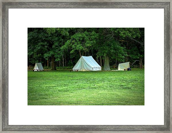 Battlefield Camp Framed Print