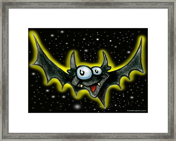 Batty Framed Print