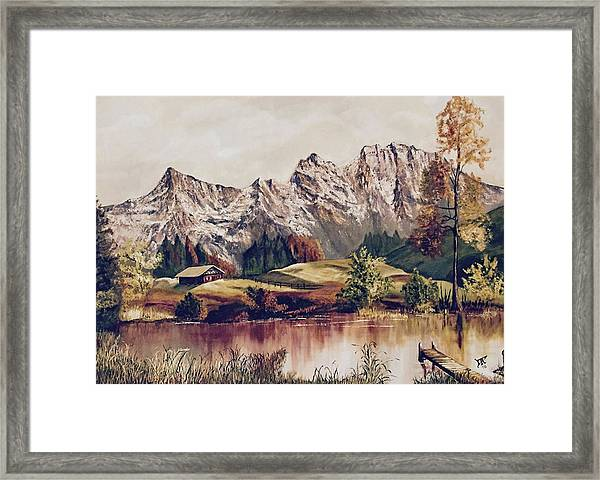Bavarian Landscape Framed Print