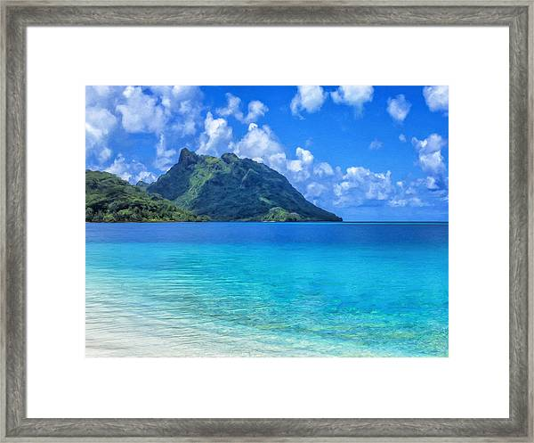 Bay At Huahine Island Tahiti Framed Print