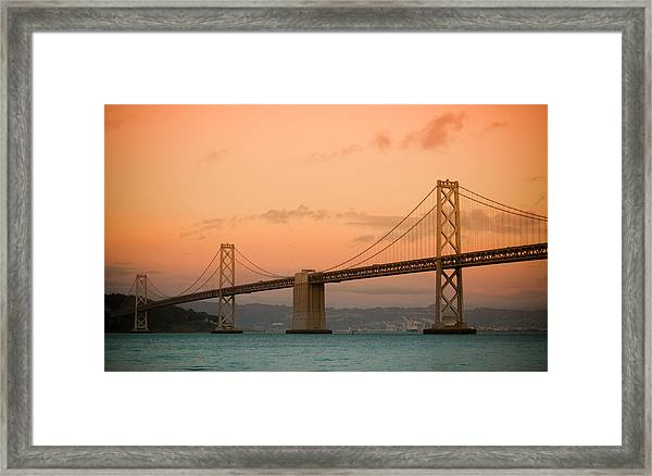 Bay Bridge Framed Print by Mandy Wiltse
