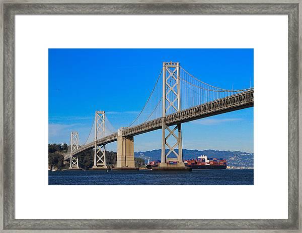 Bay Bridge With Apl Houston Framed Print