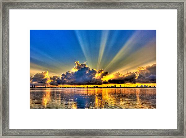 Bay Harbor Sunrise Framed Print by William Wetmore
