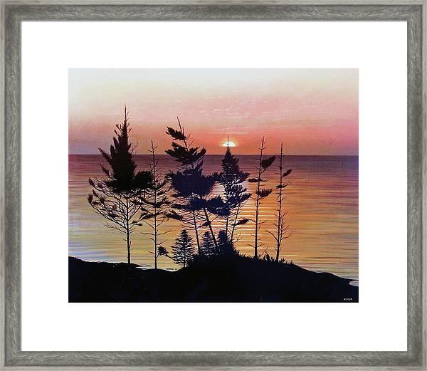 Bay Of Fundy Sunset Framed Print