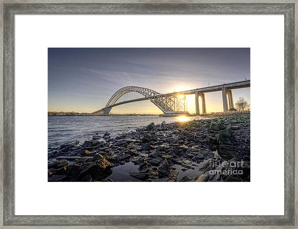 Bayonne Bridge Sunset Framed Print