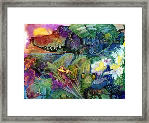 Bayou Magic Framed Print by Valerie Aune