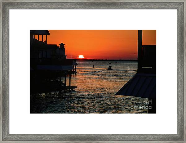 Bayou Vista Sunset Framed Print