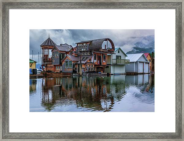 Bayview Houseboat Framed Print