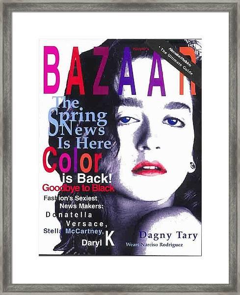 Bazaar Magazine Cover Framed Print