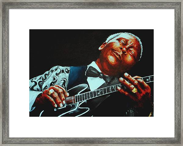 Bb King Of The Blues Framed Print