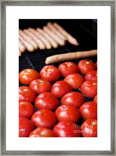 Bbq Hotplate Framed Print