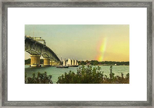 Be A Rainbow Framed Print