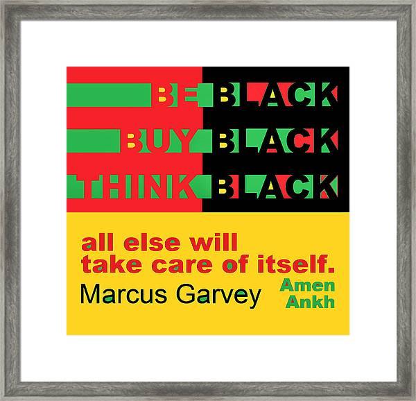 Be Black Rbg Framed Print