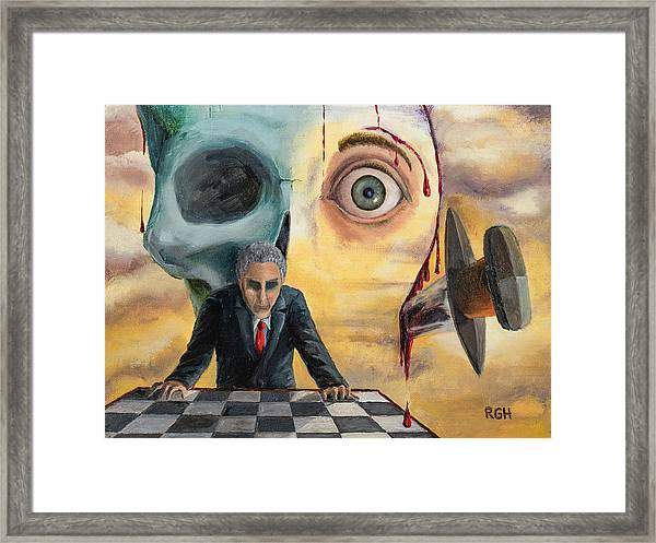 Framed Print featuring the painting Be Secret And Exult by Break The Silhouette