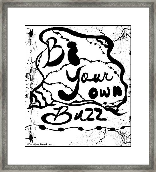Framed Print featuring the drawing Be Your Own Buzz by Rachel Maynard