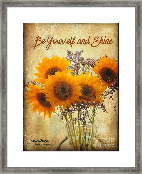 Be Yourself And Shine Framed Print