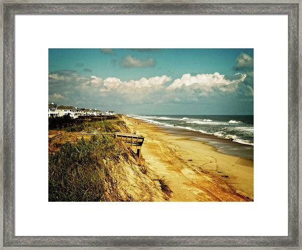 Beach At Corolla Framed Print