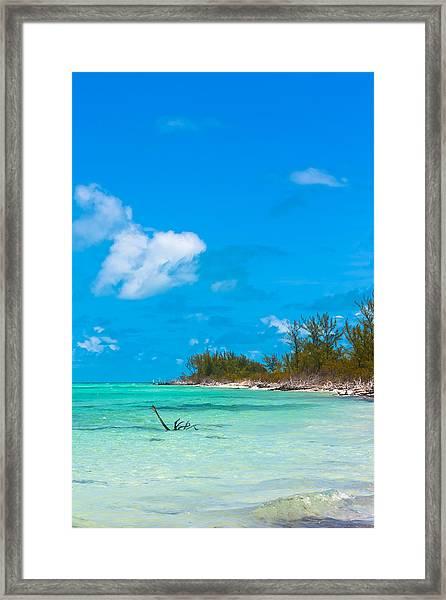 Beach At North Bimini Framed Print