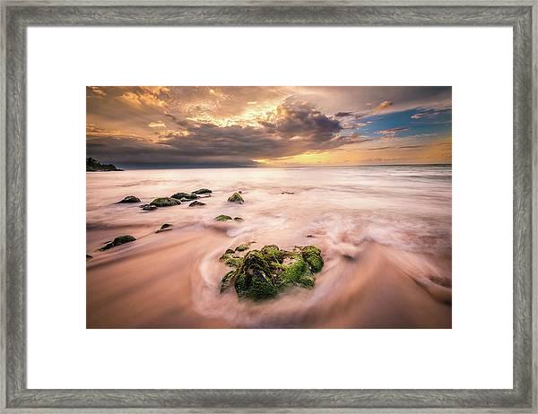 Beach At Paia Framed Print