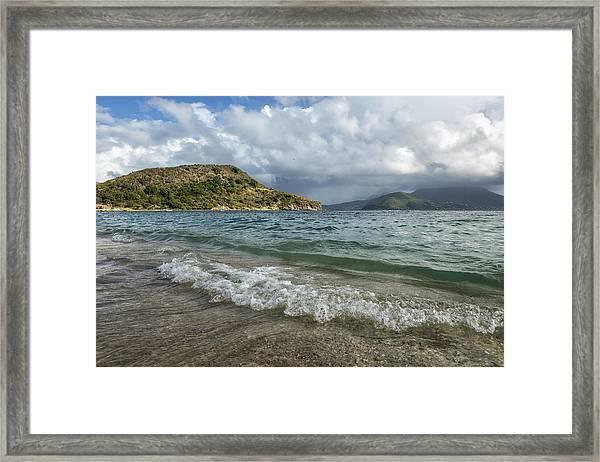 Beach At St. Kitts Framed Print