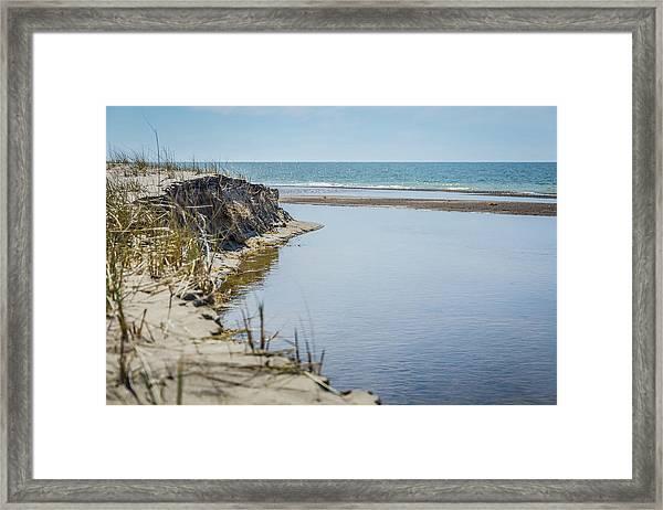 Beach At Warren Dunes Framed Print