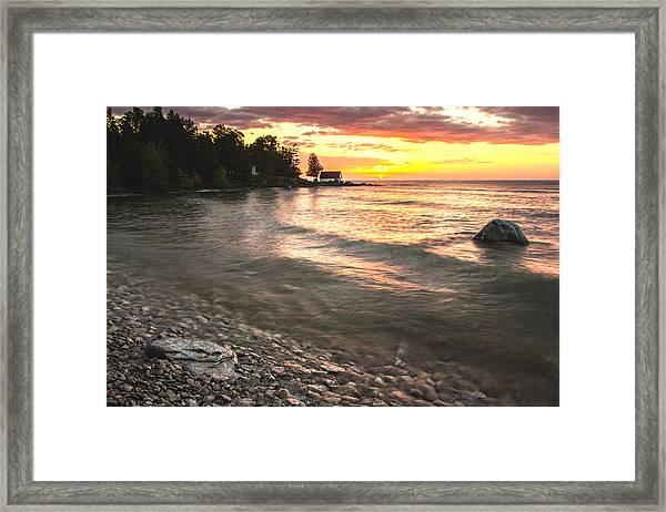 Beach Awakens Framed Print