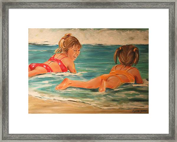 Beach Babies Framed Print by Dyanne Parker