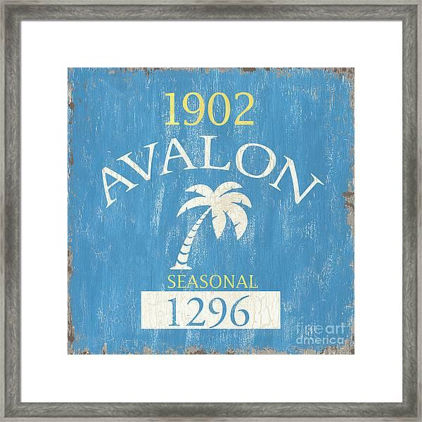 Beach Badge Avalon Framed Print