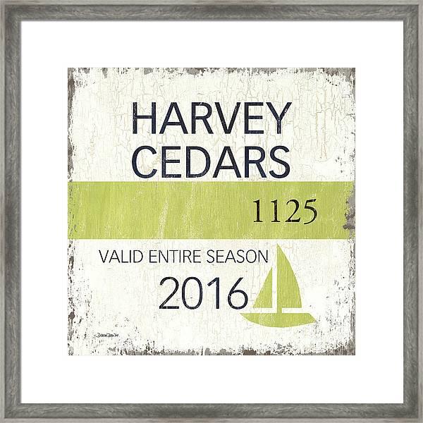 Beach Badge Harvey Cedars Framed Print