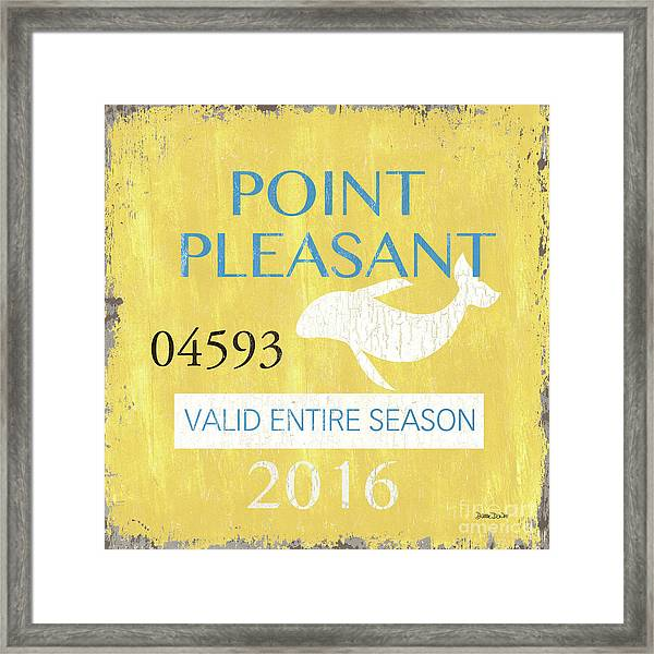 Beach Badge Point Pleasant Framed Print