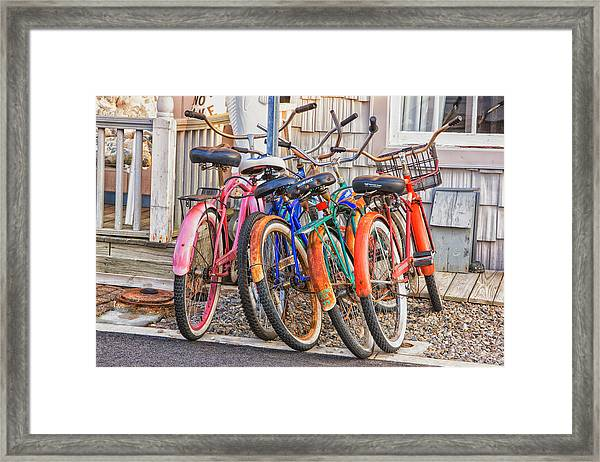 Beach Bikes Framed Print
