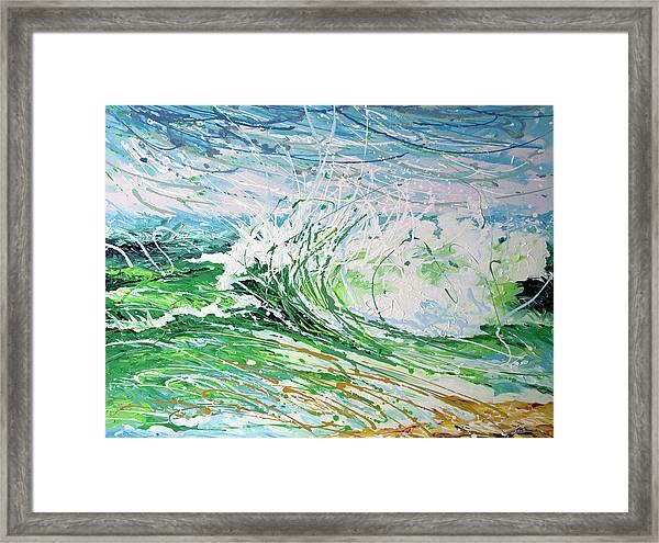 Beach Blast Framed Print