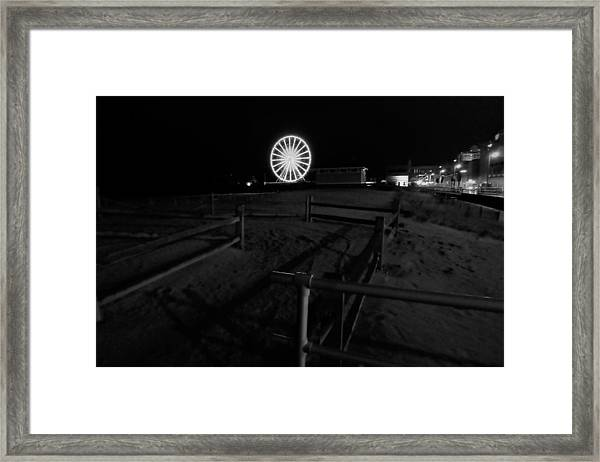 Beach Boardwalk Amusement Framed Print